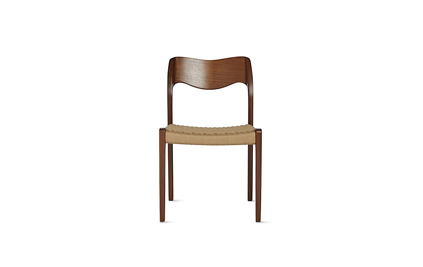 møller model 71 side chair with natural woven seat design within reach