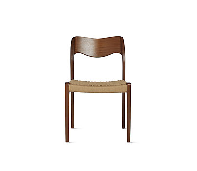 Superb Møller Model 71 Side Chair With Natural Woven Seat