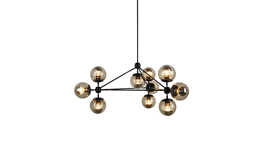 Modo Chandelier 3 Sided 10 Globes