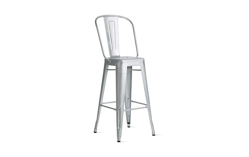 Tolix marais barstool with high back design within reach - Marais counter stool ...