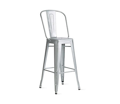 Tolix Marais Barstool with High Back