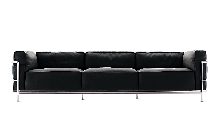 LC3 Grand Modele Three-Seat Sofa with Down Cushions