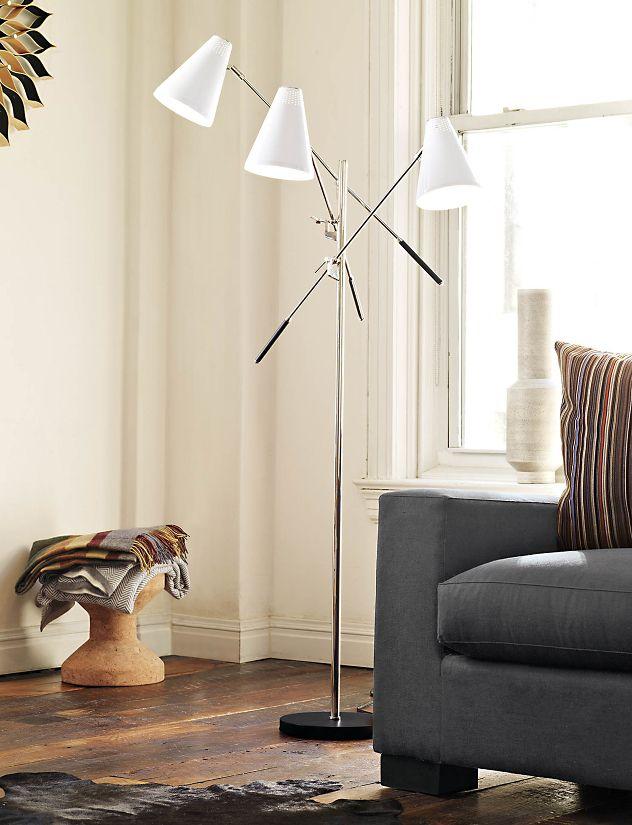 Tri arm floor lamp design within reach tri arm floor lamp aloadofball Images