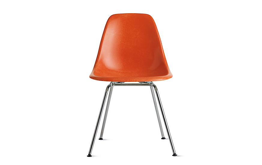 eames molded fiberglass side chair 4 leg base herman miller. Black Bedroom Furniture Sets. Home Design Ideas