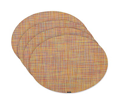 Chilewich Mini Basketweave Oval Placemats, Set of 4