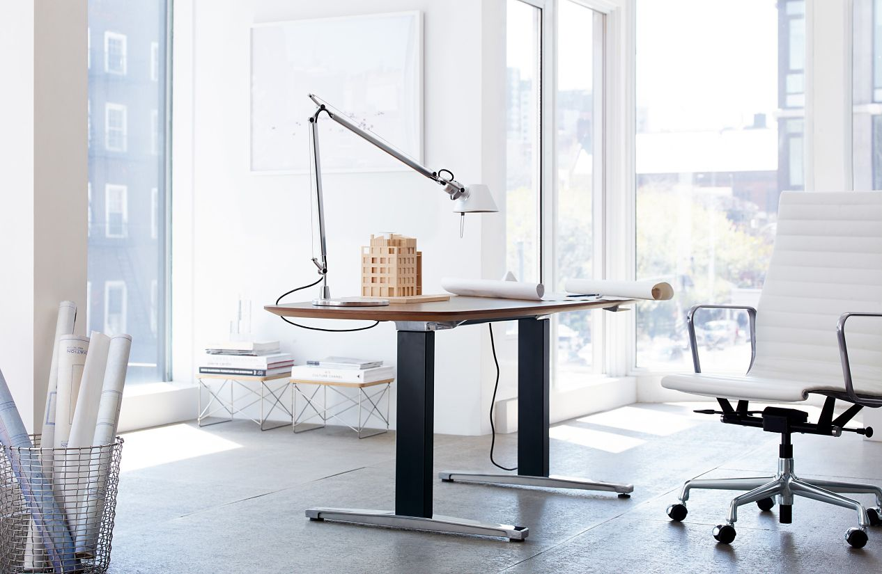 Renew executive sit to stand desk design within reach for Design within reach desk