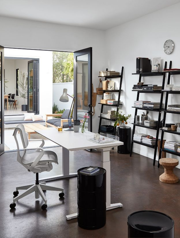 Renew sit to stand desk with advanced cord management - Herman miller office desk ...