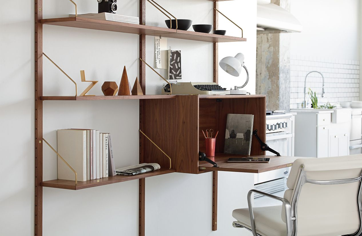 Royal System® Shelving Unit B with Desk Cabinet