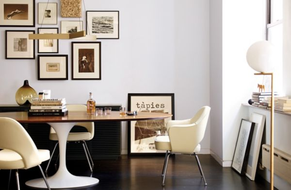 Saarinen Executive Side Chair With Metal Legs