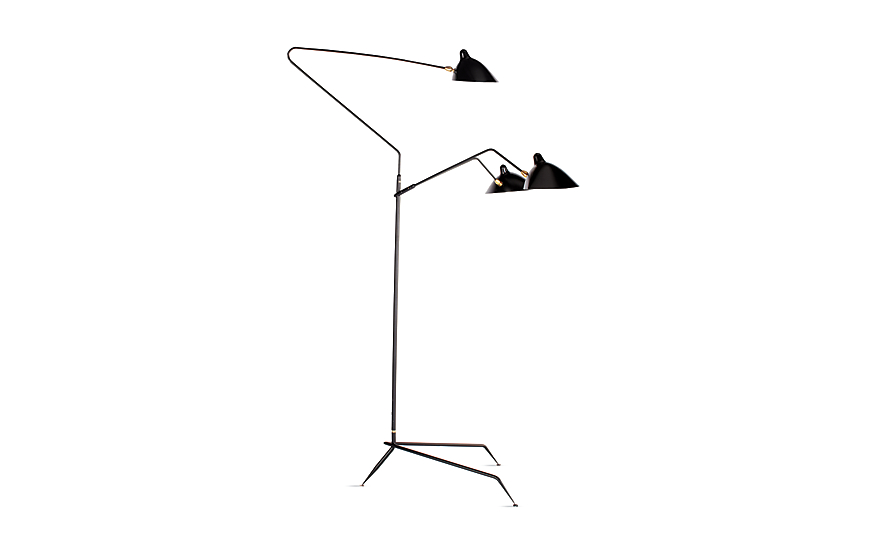 Serge mouille three arm floor lamp design within reach Serge mouille three arm floor lamp