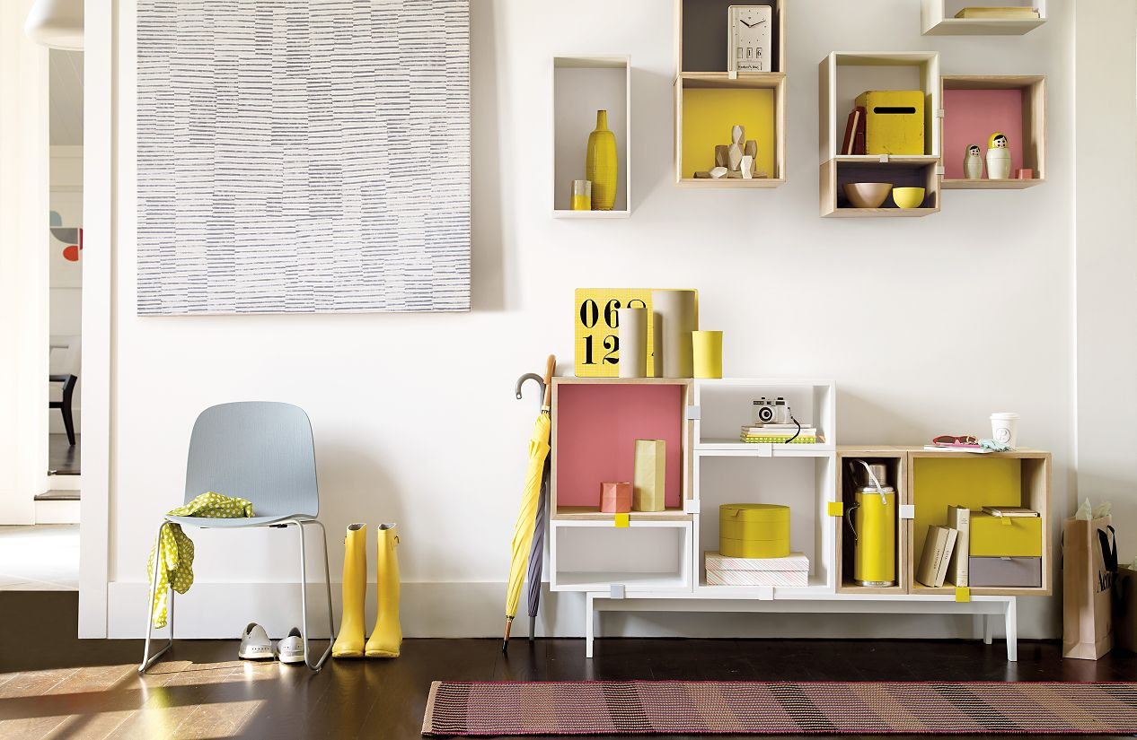 Decor Systems Of Stacked Shelving System Design Within Reach