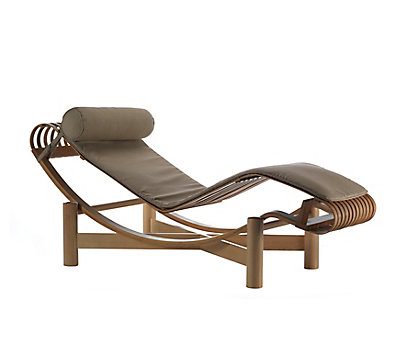 cowhide le chaise longue lounge replica corbusier platinum