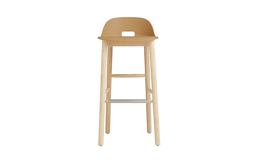 Alfi Low-Back Barstool  sc 1 st  Design Within Reach : low back bar stools wood - islam-shia.org
