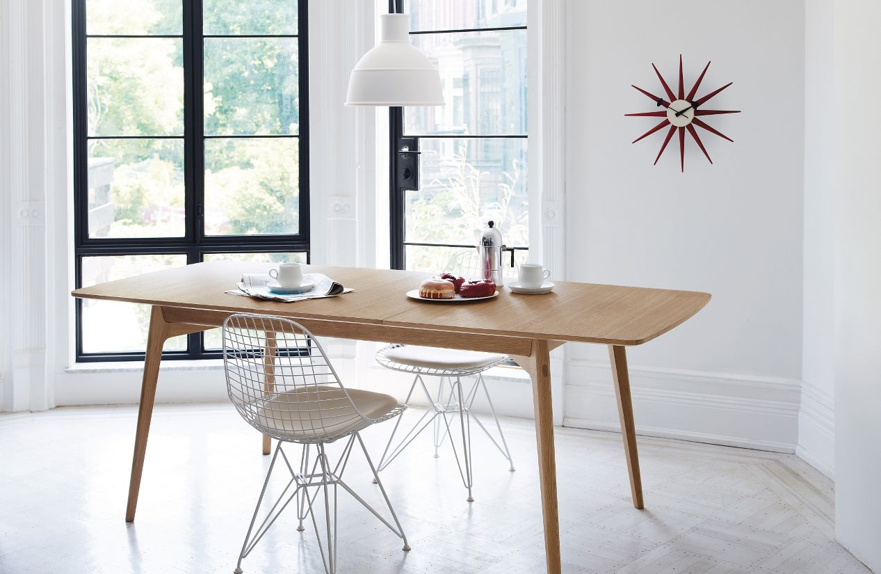Dulwich extension table design within reach - Extension dining tables small spaces model ...