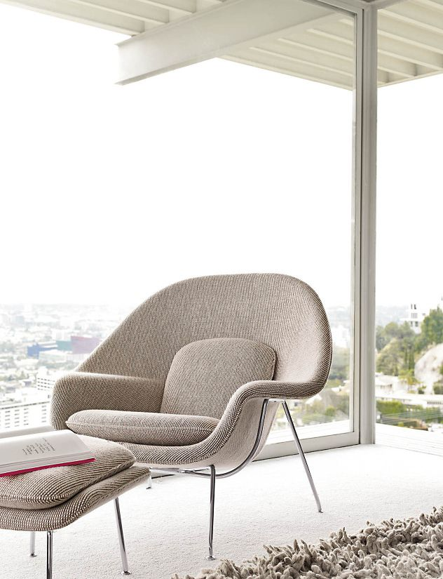 Womb  Chair and Ottoman  Womb  Chair and Ottoman   Design Within Reach. Eames Wicker Womb Chair. Home Design Ideas