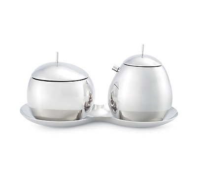 Fruit Basket Sugar Bowl and Creamer Set