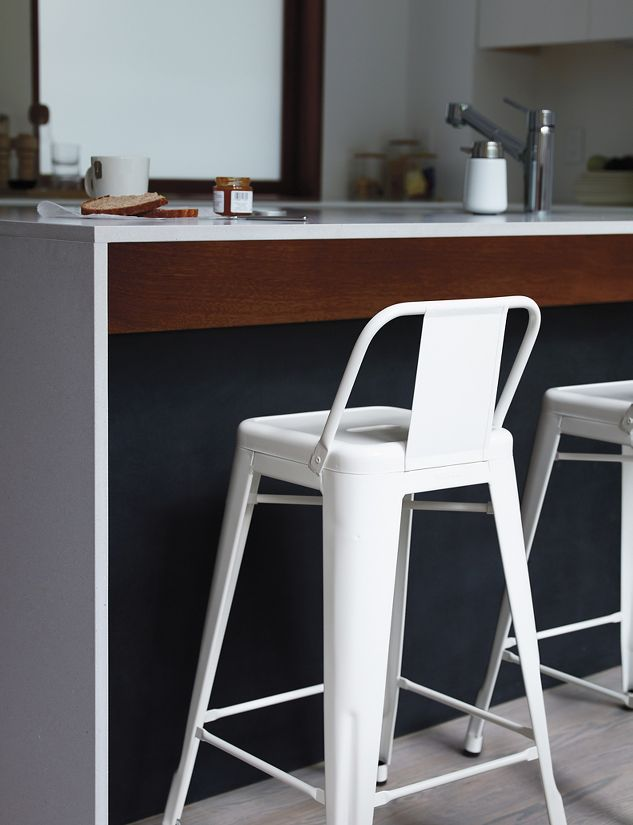 Tolix marais counter stool with low back design within reach - Marais counter stool ...