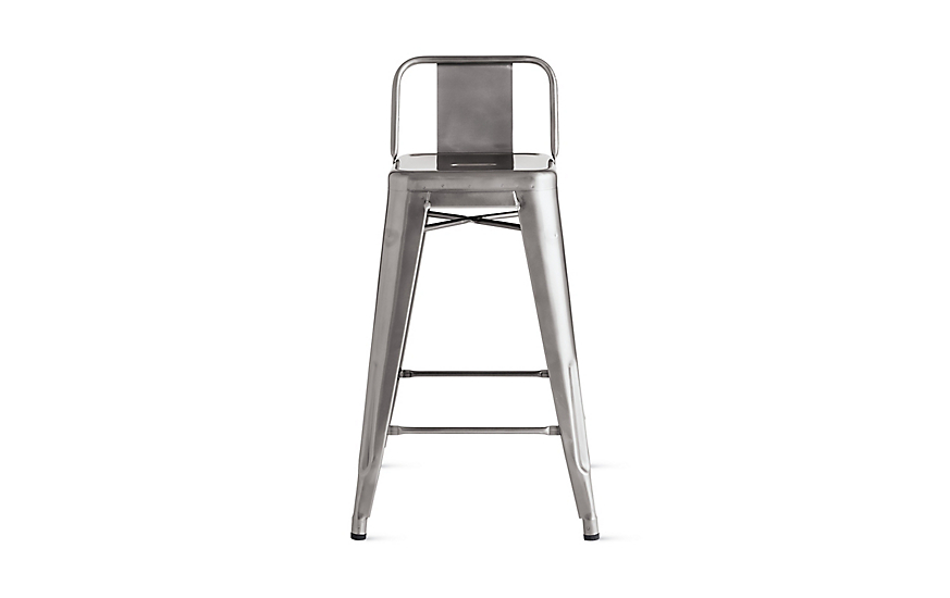 Tolix marais counter stool with low back design within reach - Tolix low back bar stool ...