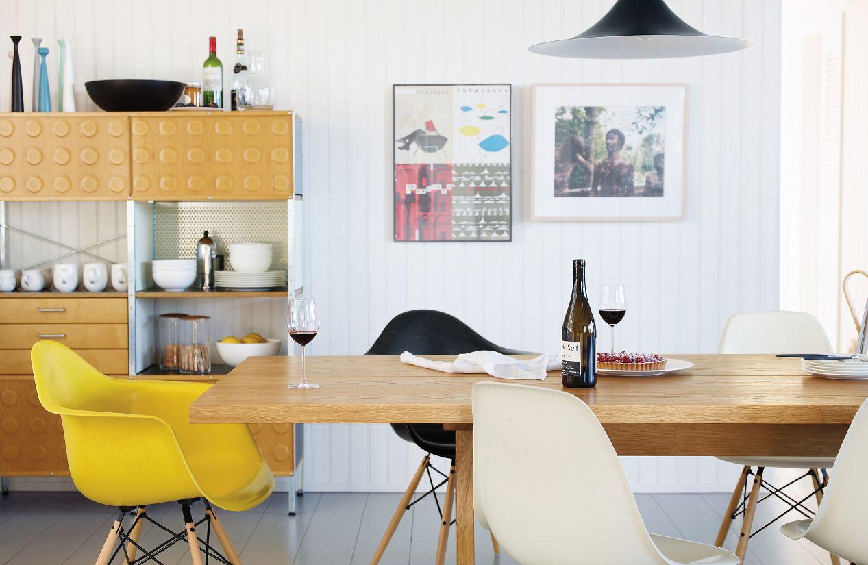 Eames molded plastic chair dining room - Eames Molded Fiberglass Dowel Leg Armchair Dfaw