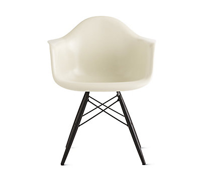 Bon Eames® Molded Fiberglass Dowel Leg Armchair (DFAW)