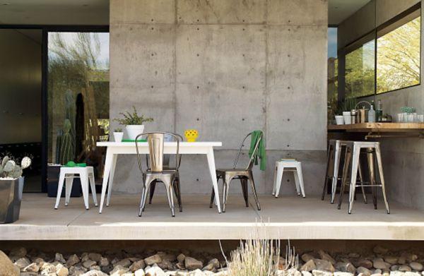 Charmant Tolix® Marais Four Seater Dining Table ...
