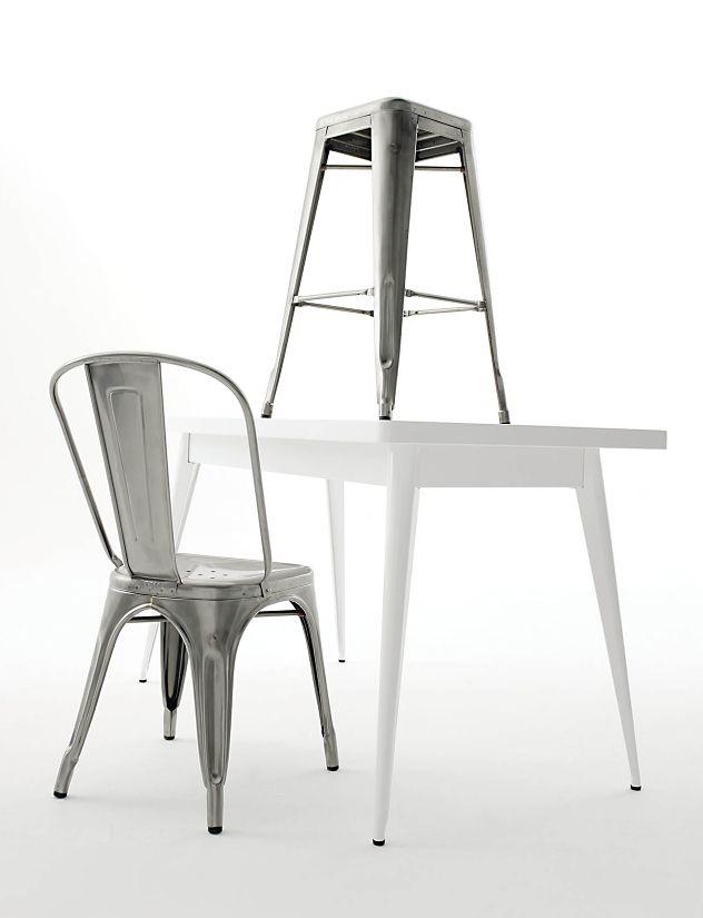 ... Tolix Marais Four-Seater Dining Table