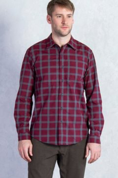 Calator Plaid L/S, Claret, medium