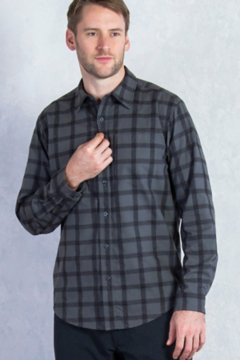 Calator Plaid L/S, Black, medium