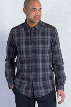 Kelion Plaid L/S, Black, medium