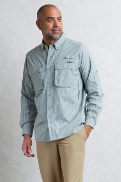Air Strip Micro Plaid L/S, Dk Agave, medium