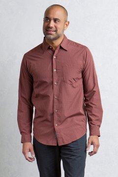 Salida Plaid Shirt L/S, Dk Brick, medium