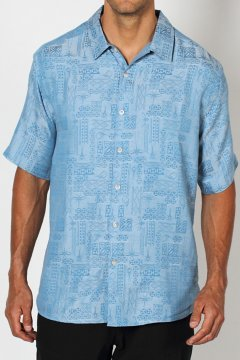 Pisco Jacquard S/S, Blue Jean, medium