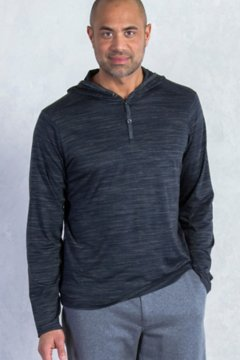 Termo Hoody L/S, Black Heather, medium
