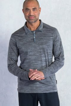 Termo Quarter Neck L/S, Slate Heather, medium