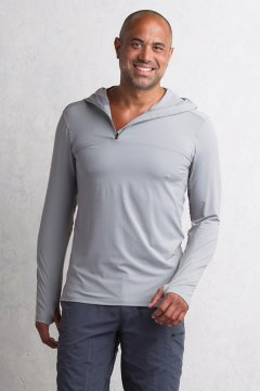 Sol Cool Performance Hoody, Cement, medium