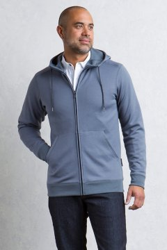 Halifax Full Zip Hoody L/S, Carbon, medium