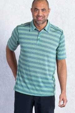 Sol Cool Jacquard Stripe Polo S/S, Hemlock, medium