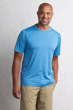 Sol Cool Signature Tee, Deep Water, medium