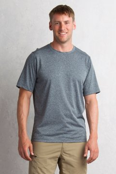 Sol Cool Signature Tee, Carbon, medium