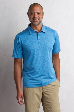 Sol Cool Signature Polo, Deep Water, medium