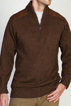 Cafenisto Funnel Neck Sweater, Walnut, medium