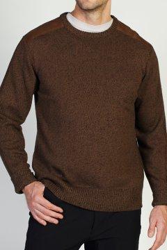 Cafenisto Crew Sweater, Walnut, medium