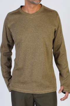 Caminetto V Neck, Walnut, medium