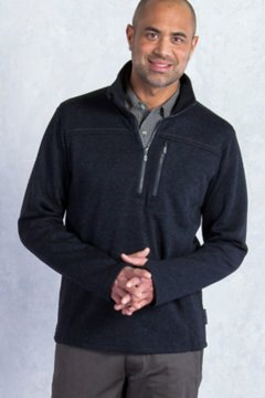 Caminetto 1/4 Zip, Black Heather, medium