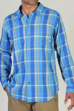 BugsAway Talisman Plaid L/S, Malibu, medium