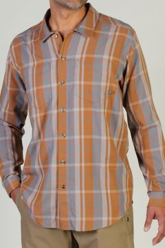 BugsAway Talisman Plaid L/S, Spice, medium