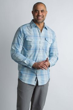 BugsAway Sol Cool Plaid L/S, Silverlake, medium