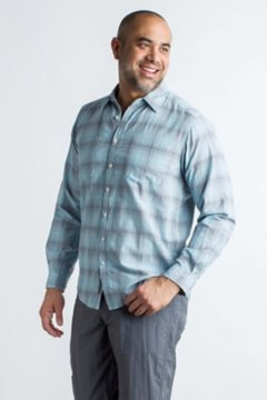BugsAway Poros Plaid L/S, Navy, medium