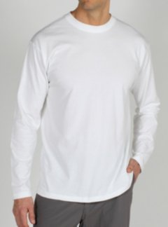 BugsAway Chas'r Crew L/S, White, medium