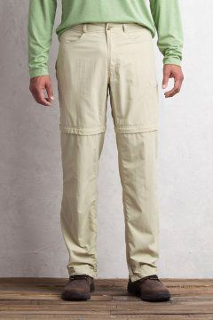 BugsAway Sol Cool Ampario Convertible Pant - 30'' Inseam, Lt Khaki, medium